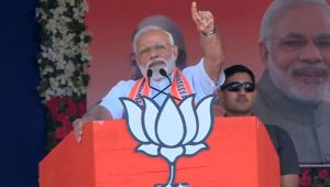 PM Modi attacks Congress over false promise during a rally in Junagarh