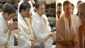 Rahul Gandhi visits Wayanad's Thirunelli Temple during Kerala Rally
