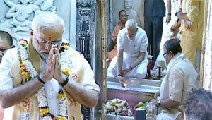 PM Modi in Varanasi for thanks giving visit, offers prayers at Kashi Vishwanath