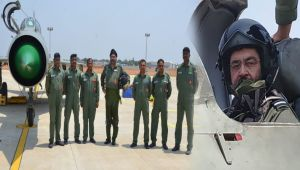 IAF Chief BS Dhanoa flies solo sorties in MiG 21 Jet on Sulur Air Base