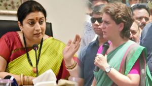 Priyanka Gandhi now takes my name more than her husband : Smriti Irani