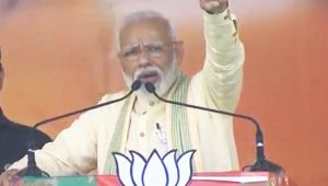 PM Narendra Modi gets emotional during his speech in Bihar's Buxar