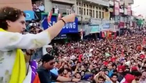 Huge crowd at Priyanka's Pathankot rally, people chants 'Chowkidar Chor Hai'
