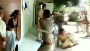 On Video, UP cops thrash transgenders at police station in Meerut