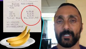 Rahul Bose Shocked as he Orders 2 bananas in a hotel, gets Rs 442.50 bill