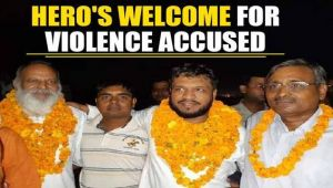 Bulandshahr accused, released on bail, get Hero's welcome