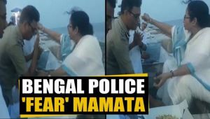 IPS Officer touches West Bengal CM Mamata Banerjee's feet, video viral