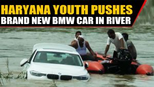Haryana youth pushes Brand new BMW car in river after parents, deny Jaguar, video viral