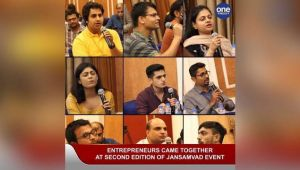 YOUNG ENTREPRENEURS BRAINSTORMED AT THE 'JANSAMVAD' EVENT..
