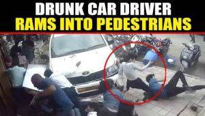 Car rams into pedestrians in Bangalore street, 7 injured: Video viral