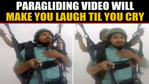 Hilarious Paragliding video goes viral, inspires memes on social media