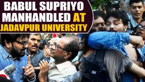 Babul Supriyo manhandled by Jadavpur University Students, slams protesters