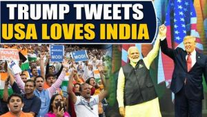 Trump tweets gratitude for love received at Howdy Modi event