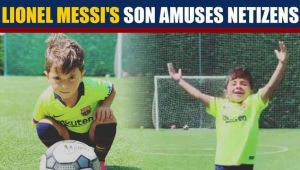 Lionel Messi's son copies Messi's signature goal celebration, video goes viral