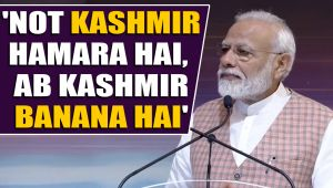 Modi reaches out to Kashmiris, says build new paradise there