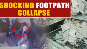 Two injured as portion of footpath built over a drain collapses in Sirohi