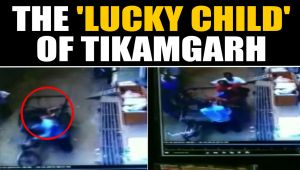 Child falls from apartment, lands on seat of moving rickshaw, video goes viral