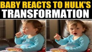 Kid reacts to Hulk's transformation, video goes viral