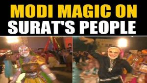 People Don Modi masks to perform garba in surat, video goes viral
