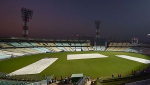 India vs Bangladesh 2nd Test : Eden Gardens decorated with pink lights for pink-ball match