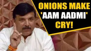 AAP's Sanjay Singh blames Centre for onion price hike