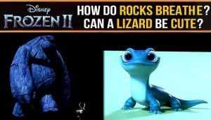Frozen 2: Meet the foreboding Rock Giants and adorable salamander Bruni