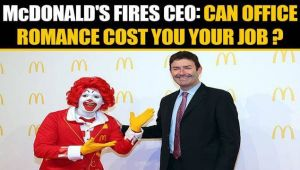 McDonald's CEO dismissed after workplace relationship comes to light