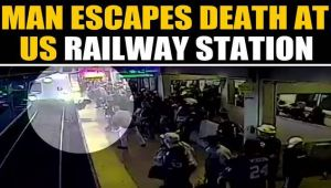 Watch: California man miraculously escapes death at Coliseum Station, video viral