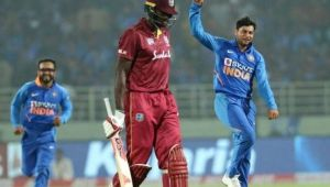 India vs West Indies: Kuldeep Yadav reaction after taking hattrick