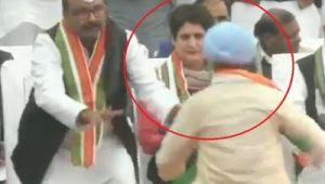 Man breaches Priyanka Gandhi Vadra's Security at Congress Foundation Day Event in Lucknow