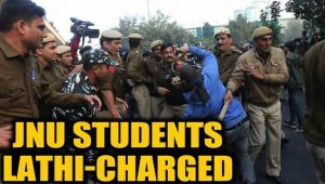 JNU fee hike protest: Students clash with police, lathi-charged