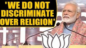 PM Modi asserts BJP does not discriminate over religion