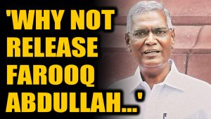 D Raja asks if everything is normal in J&K then why not release Farooq Abdullah and others