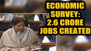 Economic Survey tabled in the Parliament: Economic growth at 6-6.5% in fiscal year from april 1st