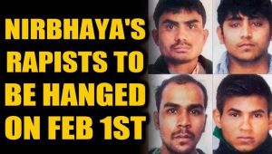 Nirbhaya case: All four convicts to be hanged on Feb 1st 6am