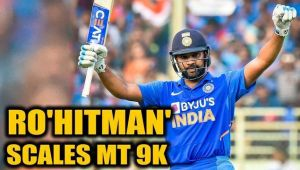 ROHIT SHARMA BECOMES THIRD FASTEST BATSMAN TO 9000 ODI RUNS