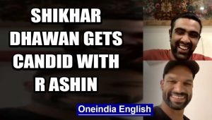 SHIKHAR DHAWAN TALKS ABOUT HIS CRICKET JOURNEY WITH R ASHWIN