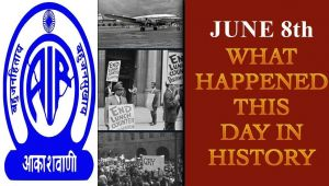June 8th: Here is a look at some major events that took place on this day in history