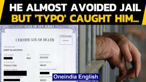 Fake death certificate: Typo exposes man who wanted to avoid jail