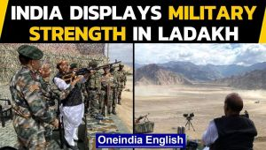 Rajnath Singh in Ladakh: Military strength display amid India-China tensions