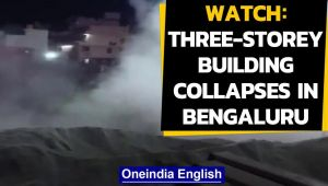 A three-storey building collapses in Bengaluru: Caught on Camera, watch