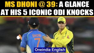MS Dhoni turns 39: Five iconic ODI knocks of former India captain