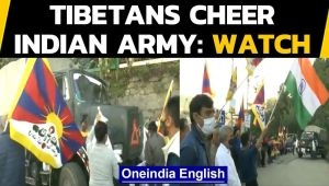 Indian Army convoy get warm sendoff by Tibetans in Shimla
