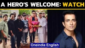 Sonu Sood welcomed with applause on film set: Watch