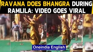 Ravana's bhangra moves on a Punjabi song during Ramlila goes viral: Watch the video