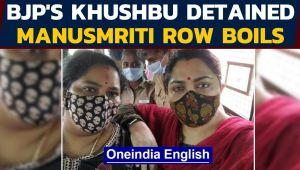 Khushbu detained amid Manusmriti row in Tamil Nadu
