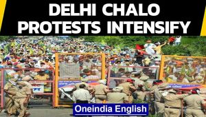 Dilli Chalo protests intensify | Farmers throw barricades