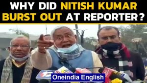 Nitish Kumar gets angry at reporter, why did he say 'who are you supporting?'