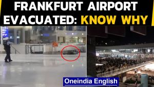 Frankfurt airport evacuated after a man dumped suitcase and shouted 'allahu akbar