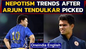 Nepotism trends after Arjun Tendulkar is picked by Mumbai Indians